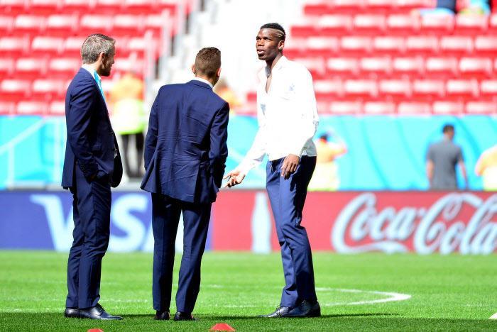 Paul Pogba et Lucas Digne