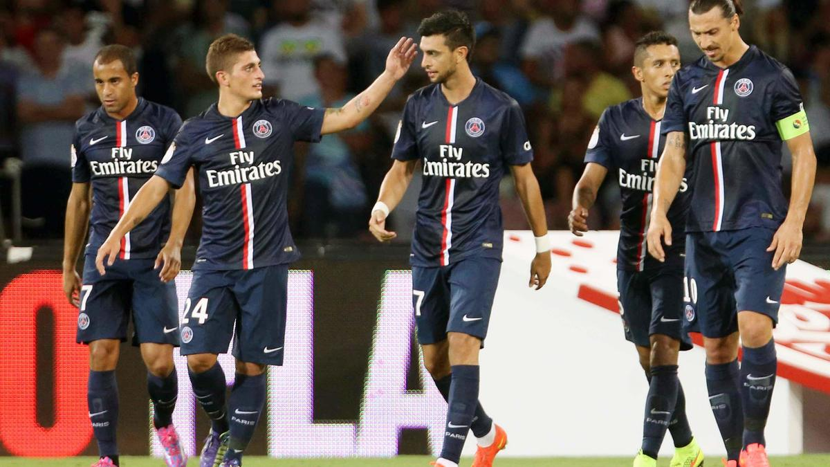 Zlatan Ibrahimovic, Marco Verratti & Javier Pastore, PSG