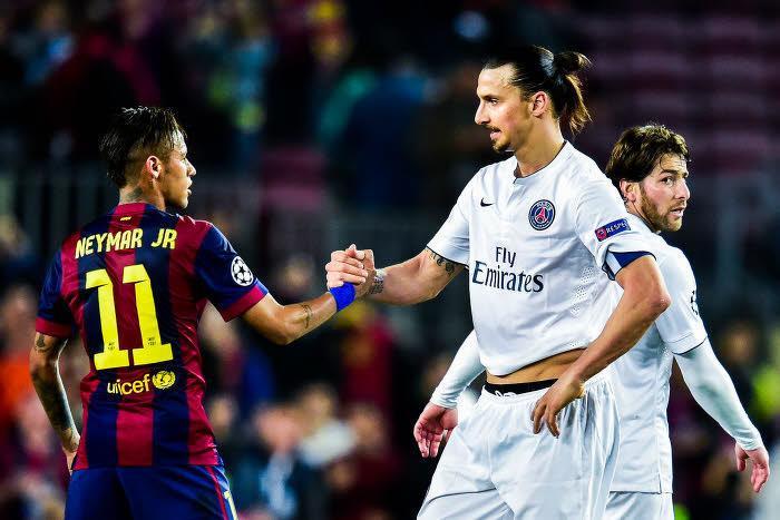 Neymar et Zlatan Ibrahimovic
