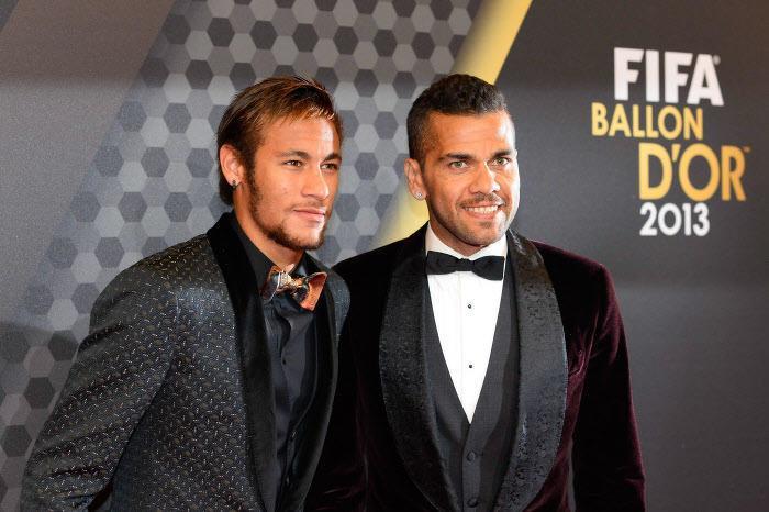 Neymar et Daniel Alves