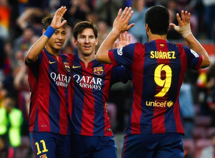 Luis Suarez, Lionel Messi & Neymar