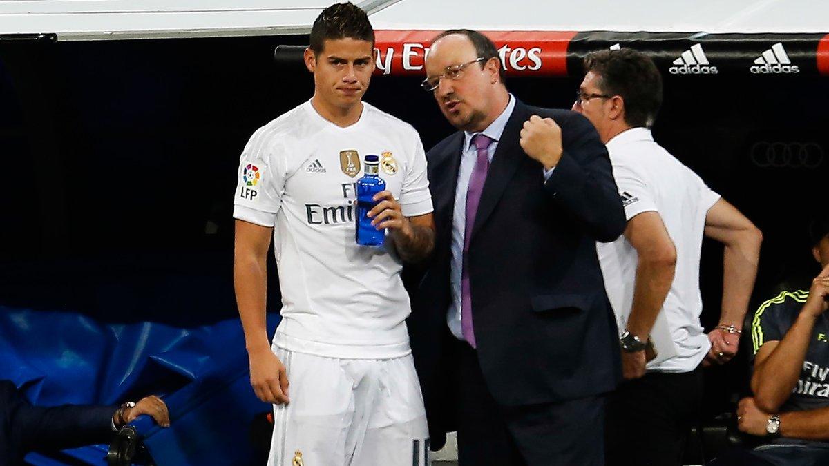 Ce message fort de James Rodriguez sur Rafael Benitez