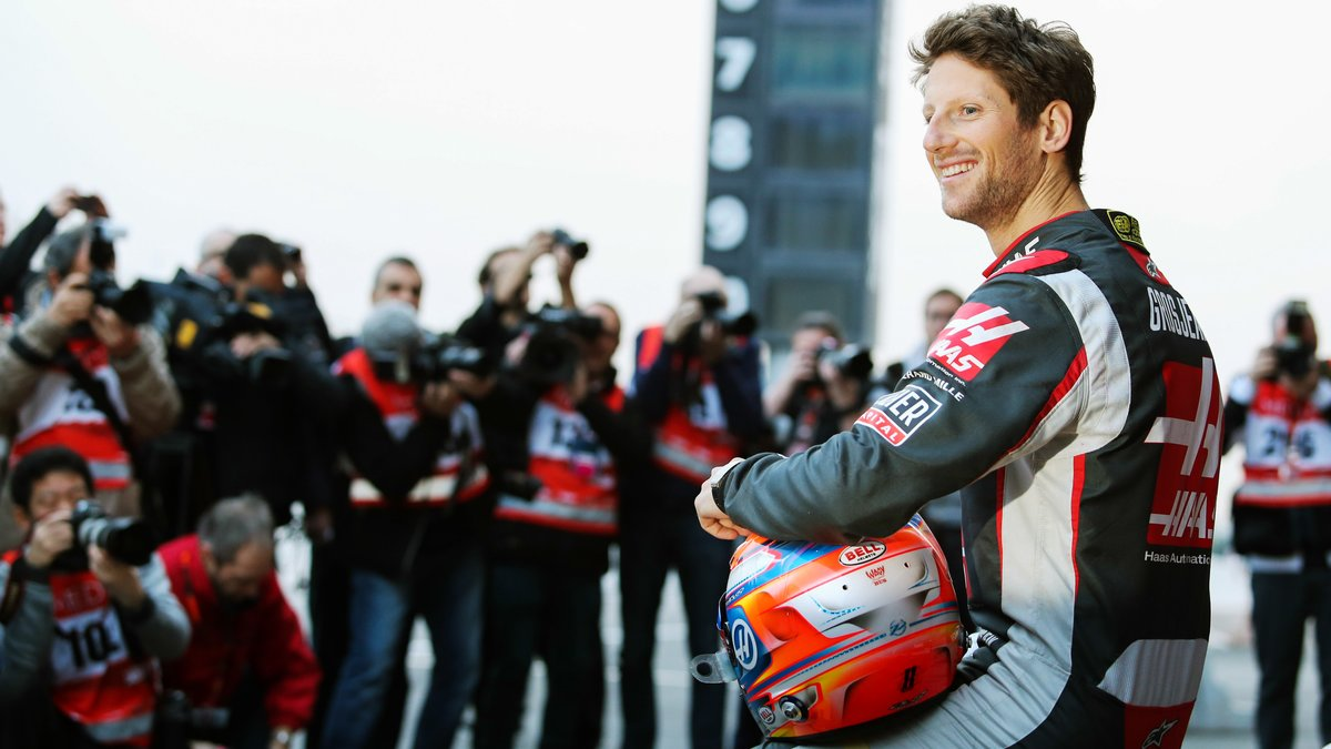 formule1 formule 1 romain grosjean se confie sur ses premiers tours de piste. Black Bedroom Furniture Sets. Home Design Ideas