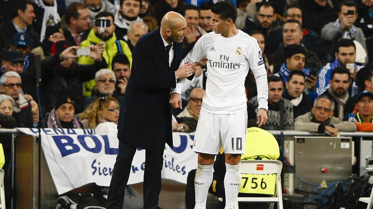 James Rodriguez sèchement recadré par Zidane