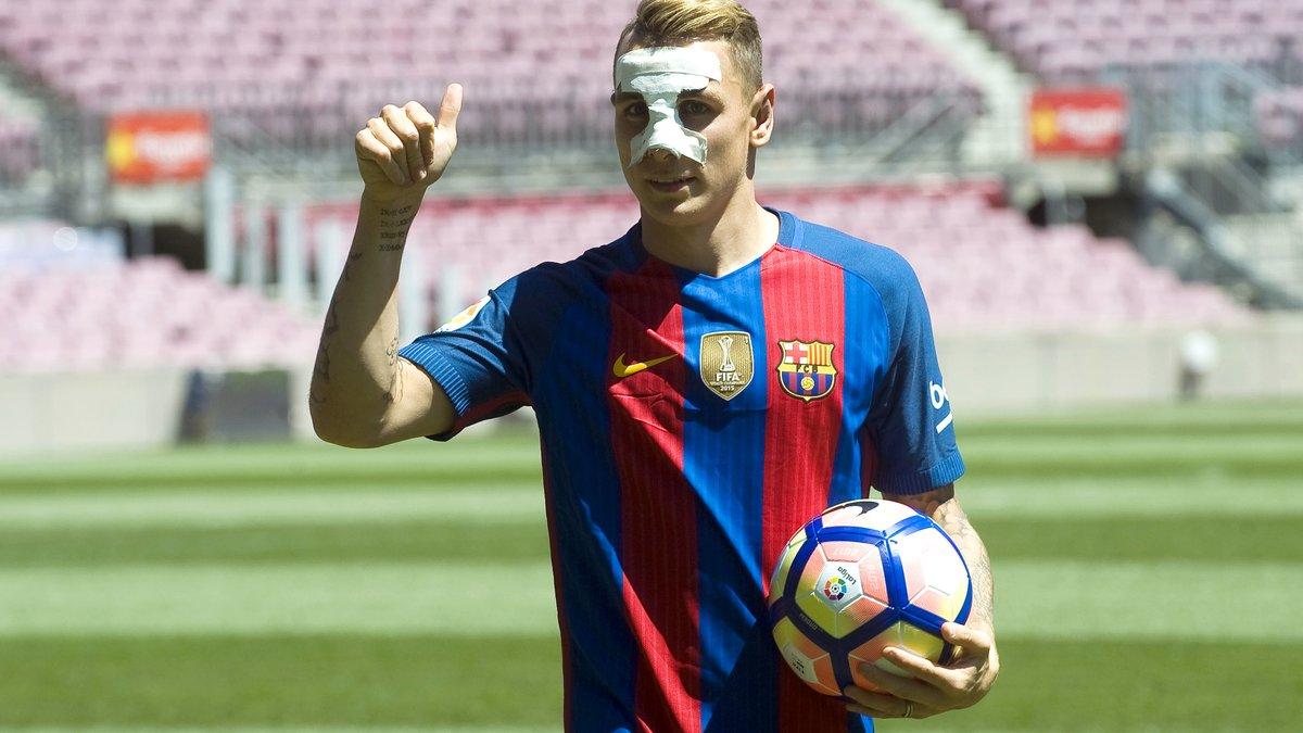 Lucas Digne évoque ses grands débuts au Barça