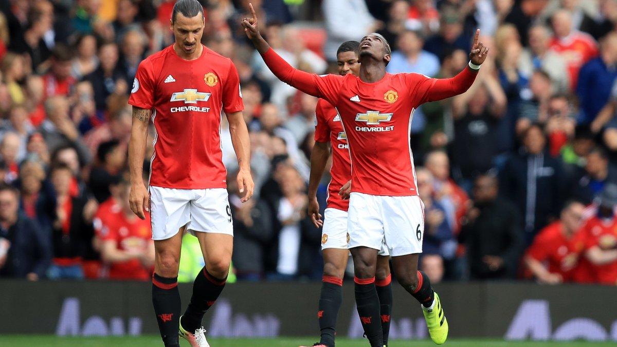 Manchester United : José Mourinho encense Paul Pogba pour son premier but