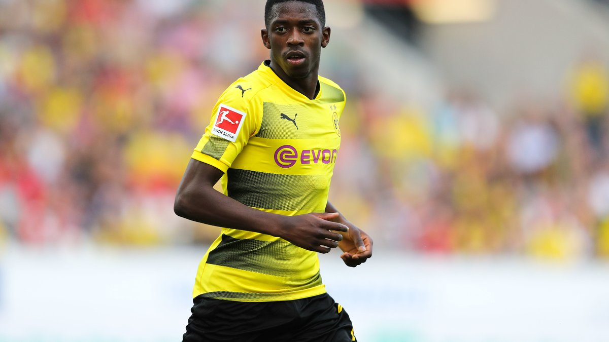 Sokratis recadre Dembélé — Dortmund