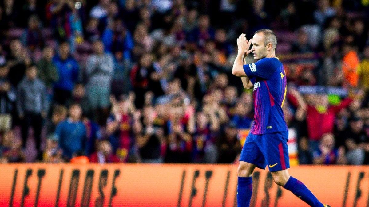 Iniesta fait une annonce pour sa retraite internationale — Barcelone
