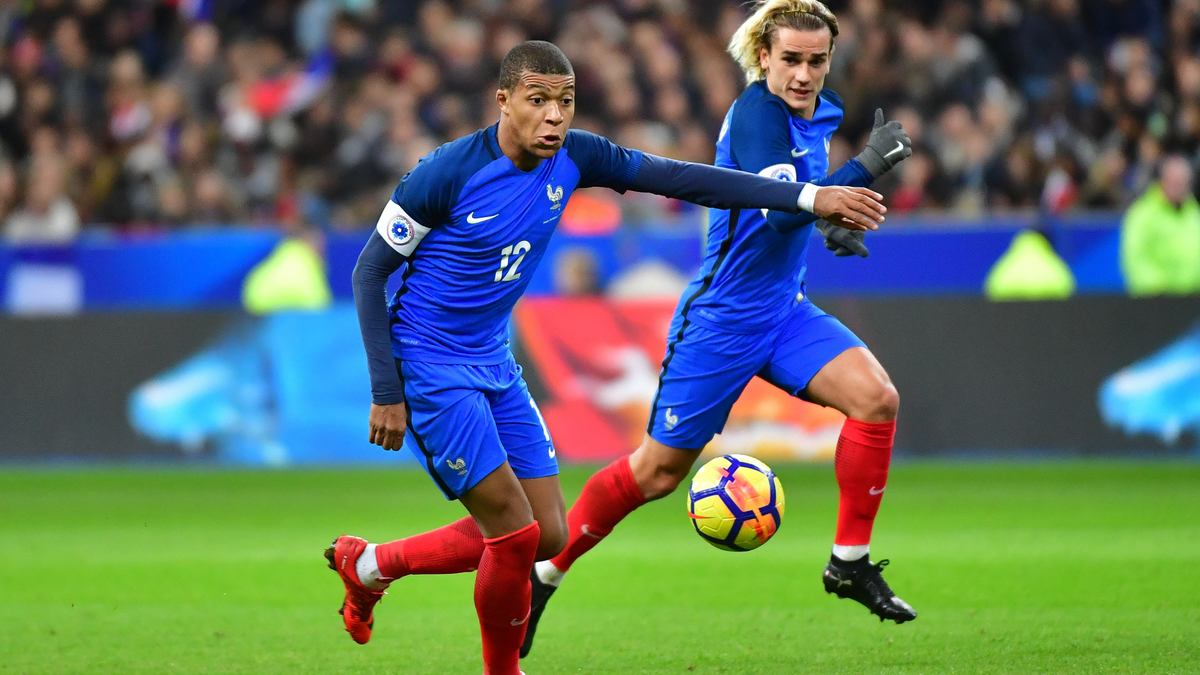 Image result for kylian mbappe and antoine griezmann