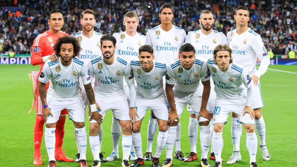 Real Madrid Line Up 2018