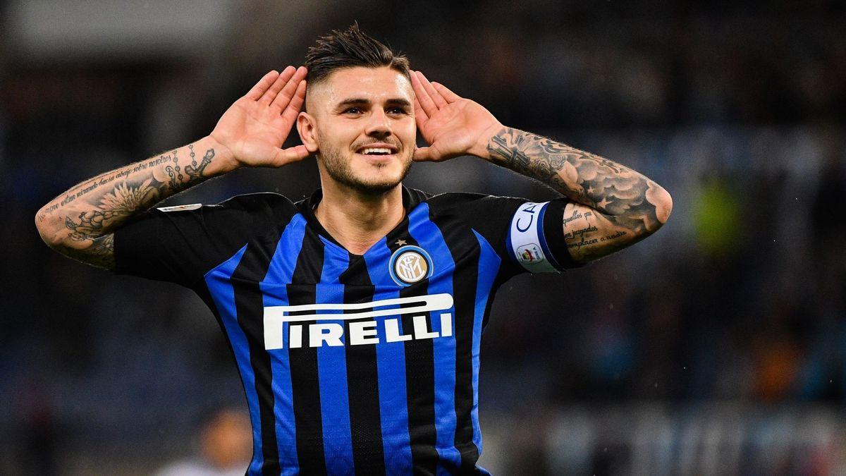 Les supporters de l'Inter Milan réclament le départ de Mauro Icardi