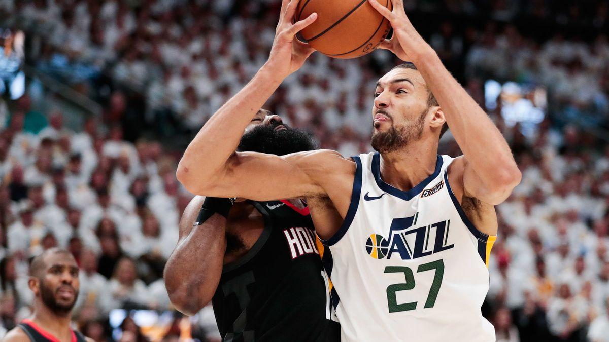 Basket - NBA : L'anecdote de Rudy Gobert sur son duel avec Giannis Antetokounmpo…