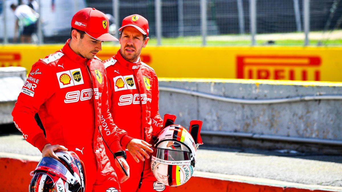 Formule 1 : Le patron de Ferrari fait passer un message à Vettel et Leclerc !